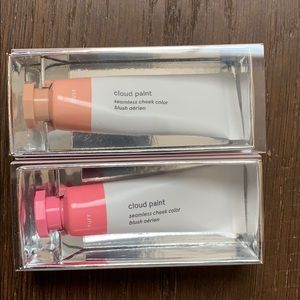 glossier Cloud Paint cream blush in Dusk and Puff